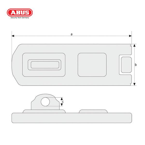 ABUS 100 Series Hasp and Staple 100-60-1_B