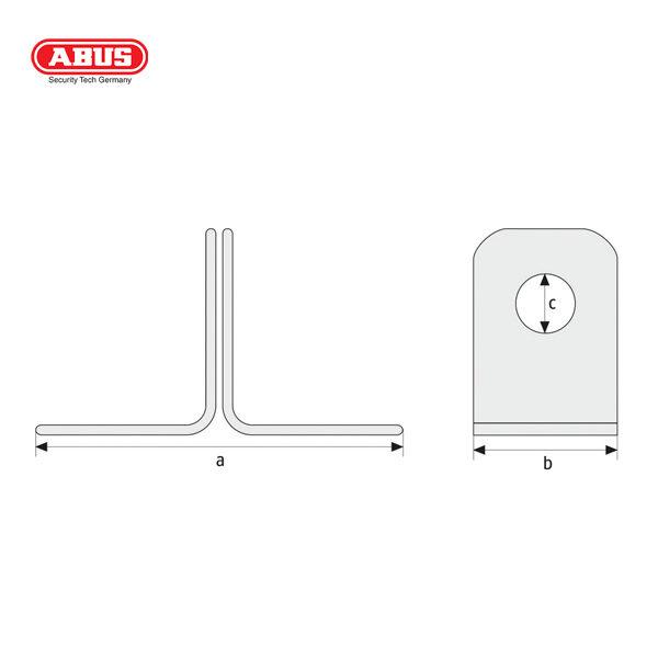ABUS 115 Series Hasp and Staple 115-100-1_B
