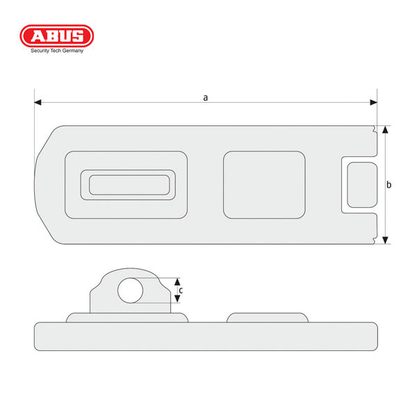 ABUS 140 Series Hasp and Staple 140-120-1_B