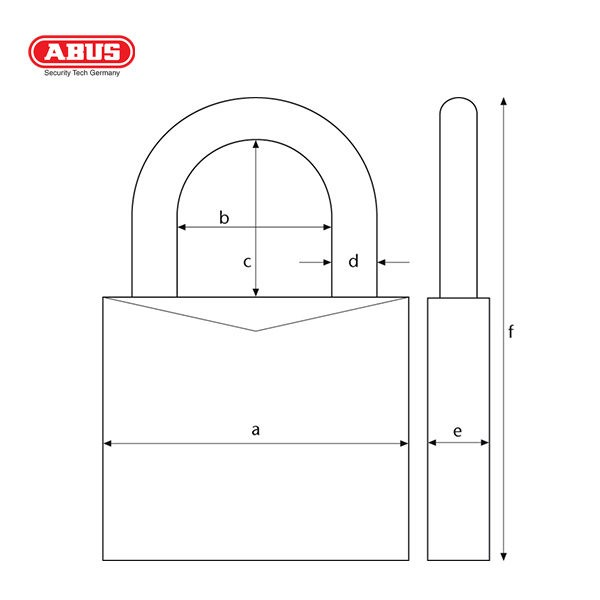 ABUS 160 Series Combination Padlock 160-40-1_C