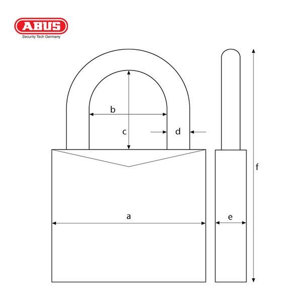 ABUS 160 Series Combination Padlock 160 50 1 C