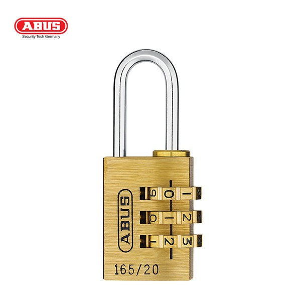 ABUS 165 Brass Combination Padlock 165-20-1_A