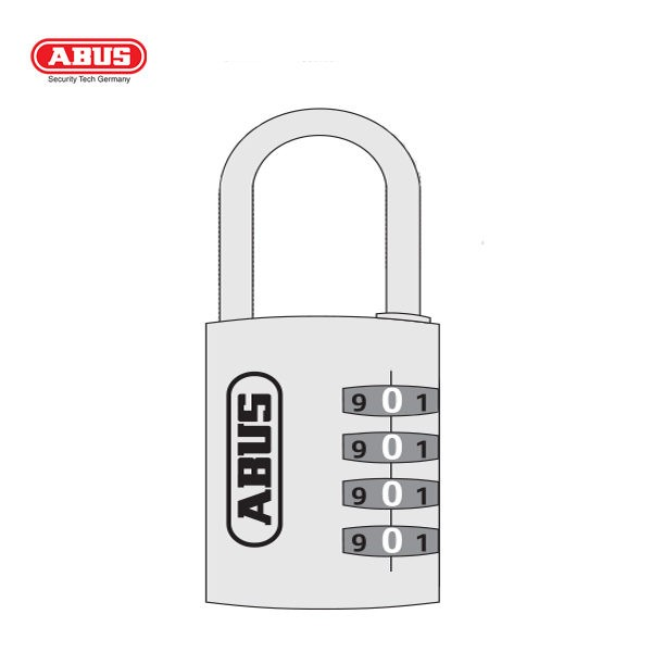 ABUS 165 Brass Combination Padlock 165-40-1_B