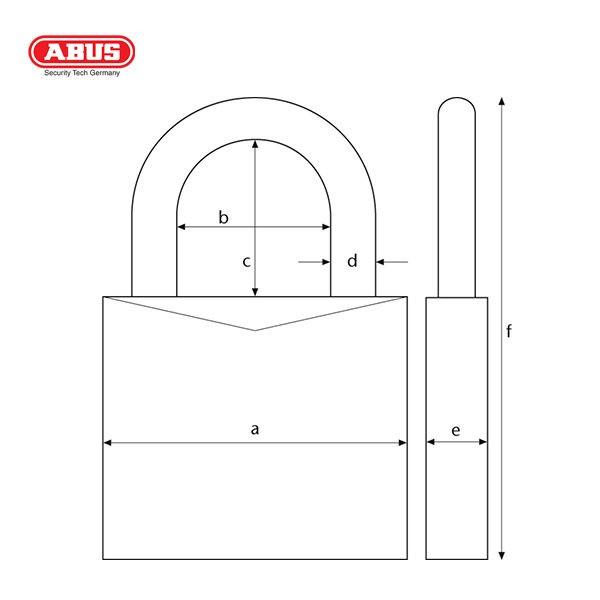 ABUS 180IB Series WR Combination Padlock 180IB-50-1_B