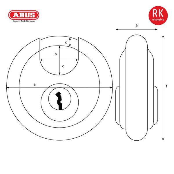 ABUS 24 Series ODP Discus Padlock 24-70_B