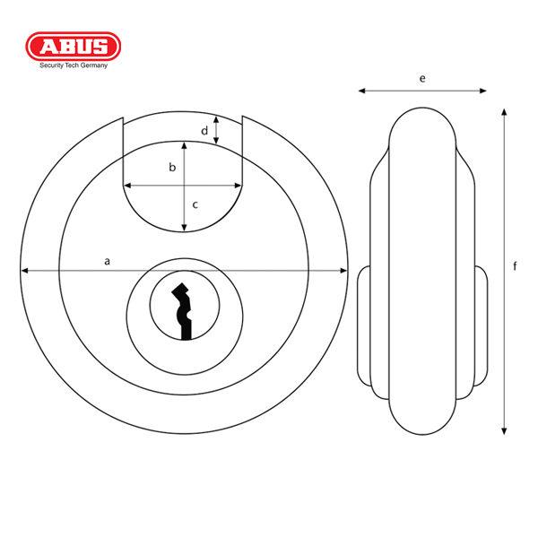 ABUS 26 Series ODP Discus Padlock 26-70-1_B