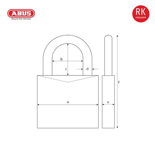 ABUS 3755 Series Granit Padlock 37-55-1_B