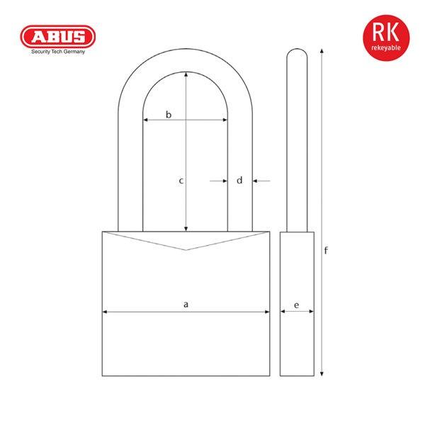 ABUS 3755 Series Granit Padlock 37-55-1_D