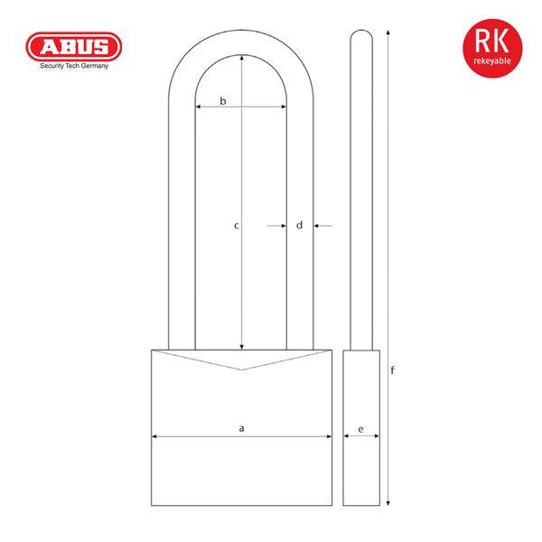 ABUS 37RK70 Series Granit Padlock 37RK-70-1_D