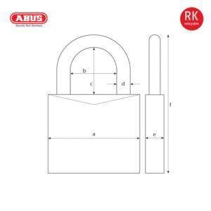 ABUS 37RK/80 CS Series Granit Padlock 37RK/80-1
