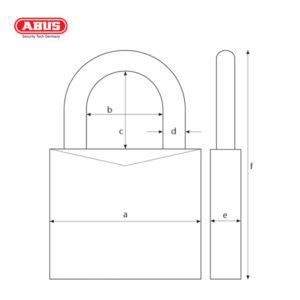 ABUS 41 Series CR Laminated Padlock 41/40-1