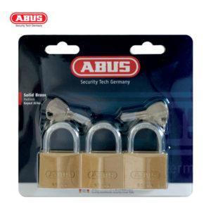 ABUS 65 Multi-Pack Brass Padlocks