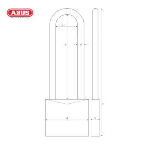 ABUS 65 Long Shackle Brass Padlock