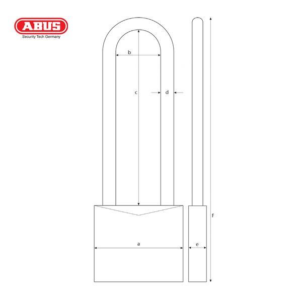 ABUS 65 Series LSP Brass Padlock 65-30HB30_B