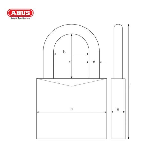 ABUS 65 Series SSP Brass Padlock 65-20-1_B