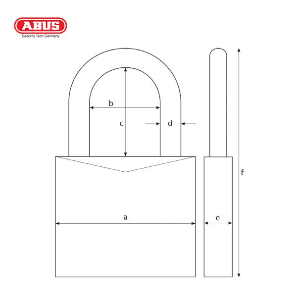 ABUS 65 Series SSP Brass Padlock 65-40-1_B
