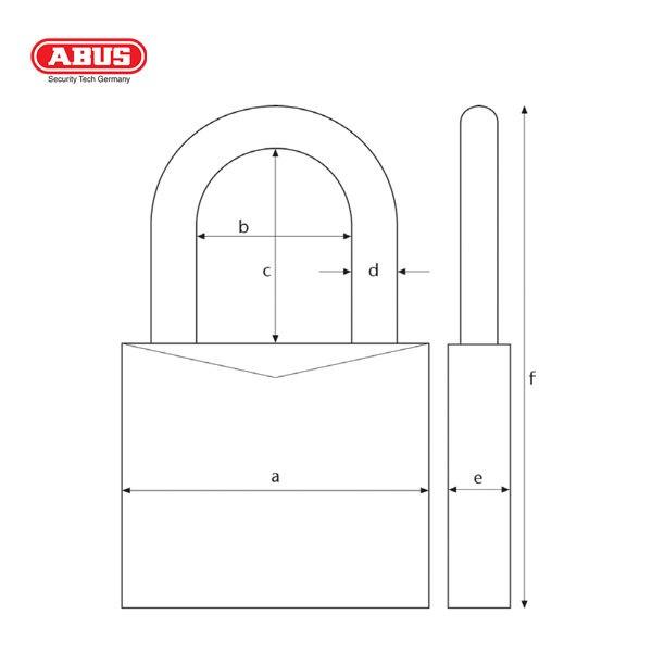 ABUS 65 Series SSP Brass Padlock 65-50-1_B