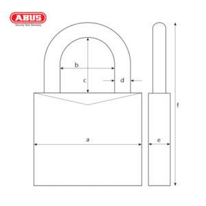 ABUS 70AL Series VC Aluminium Padlock 70AL/45-GRN-1