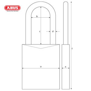 ABUS 74 Series Industrial Safety Padlock 74/40