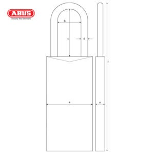 ABUS 74 Series Industrial Safety Padlock 74LB/40