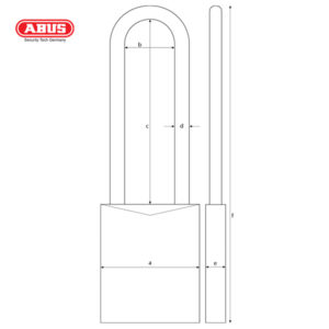 ABUS 76 Series Industrial Safety Padlock 76/40HB75