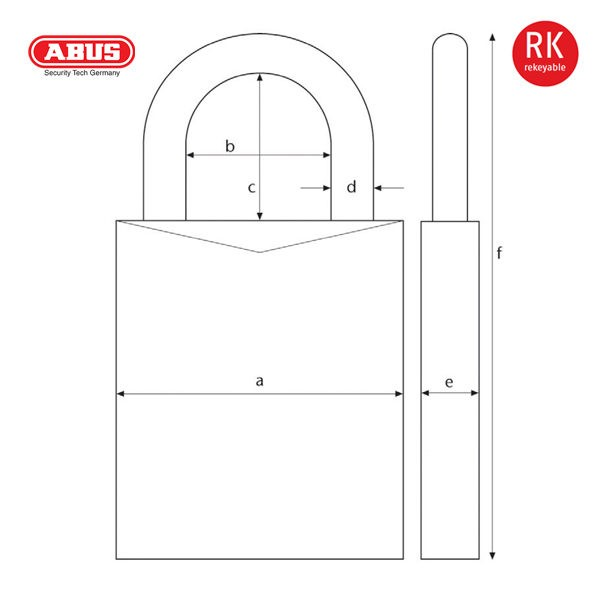 ABUS 83 45 Series Patented Padlock 83-45-1_B