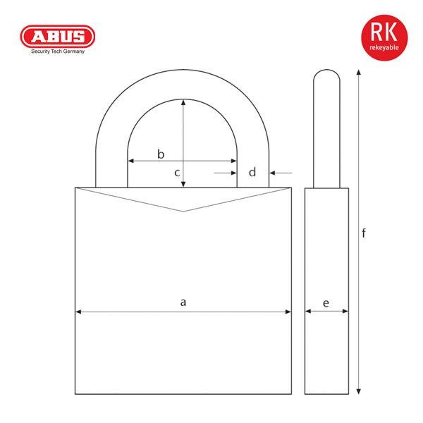 ABUS 83-80 Series Patented Padlock 83-80-1_B