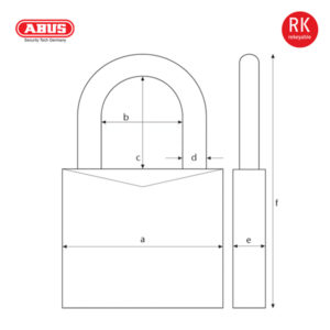 ABUS 88/50 Plus Series Patented Padlock 88/40