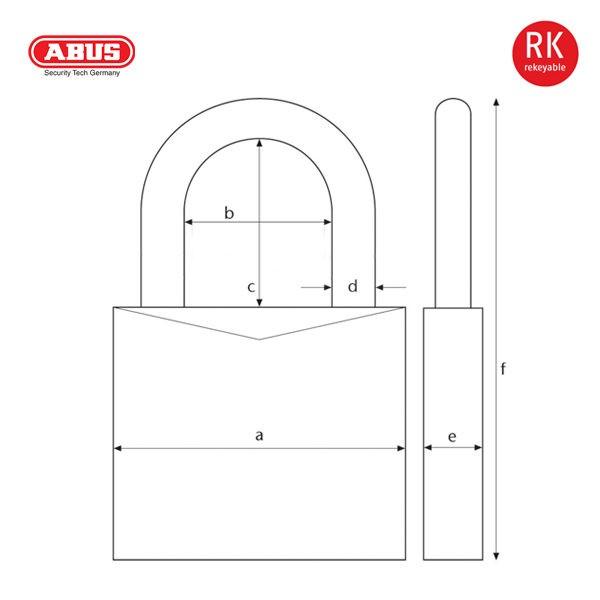 ABUS 88-50-Plus Series Patented Padlock 88-40_C