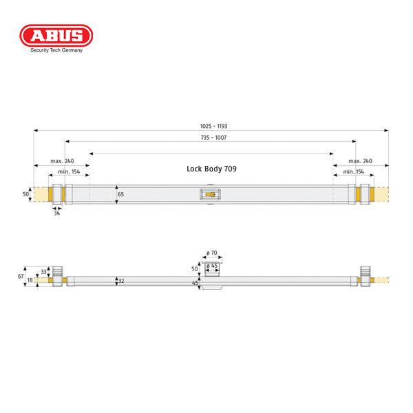 ABUS PR2600 Door Bar Door Security PR2600B_C