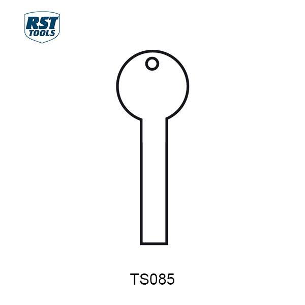 RST Flat Steel Key Blanks TS085