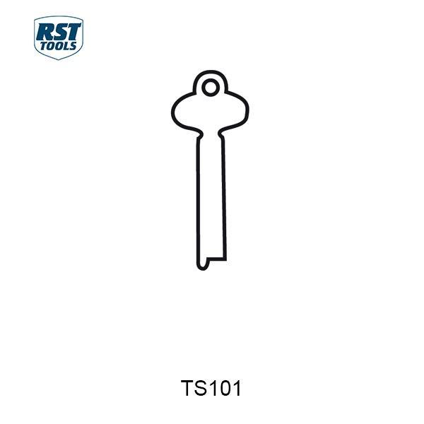 RST Flat Steel Key Blanks TS101