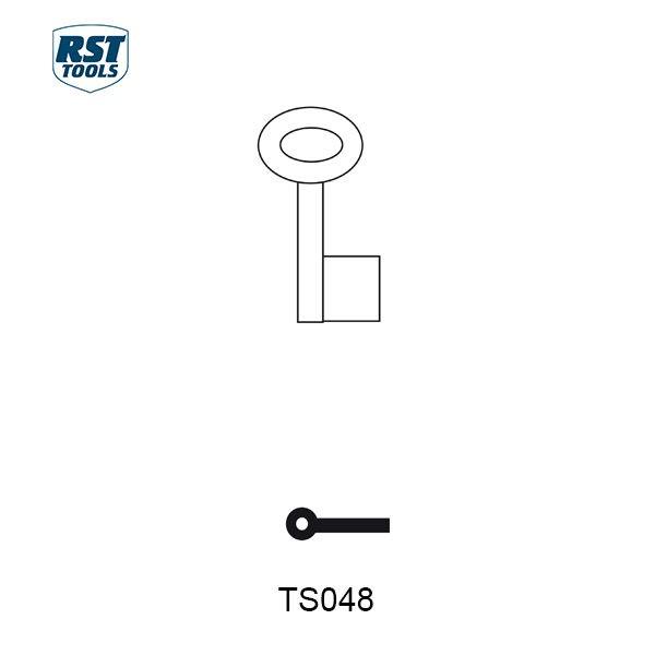 RST Pipe Key Blanks TS048