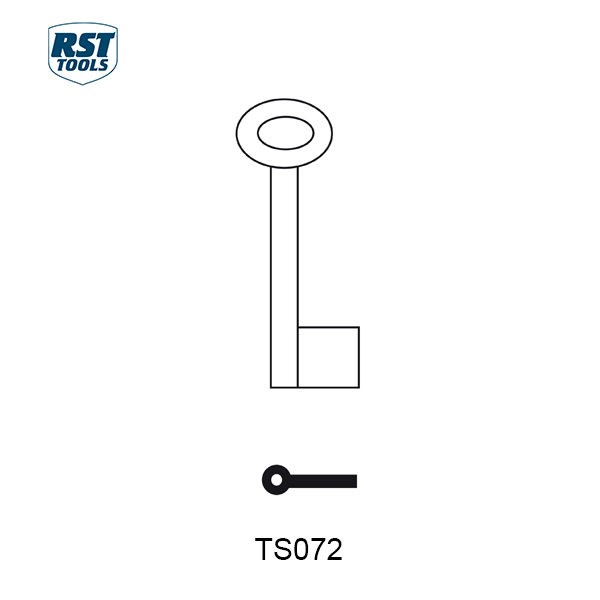 RST Pipe Key Blanks TS072