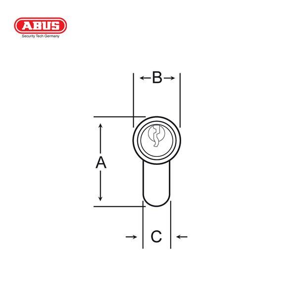 ABUS E45 Standard Cylinder E45-60BP-1_D