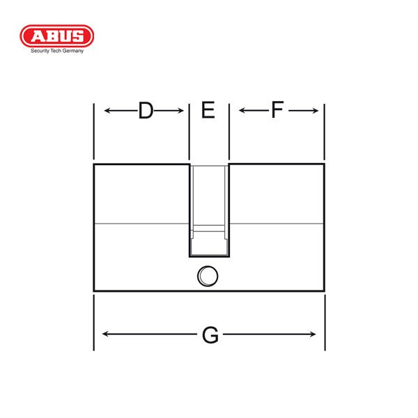 ABUS E50 Standard Cylinder E50 60BP_C
