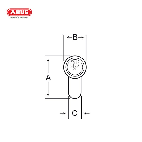ABUS E50 Standard Cylinder E50 60BP_D