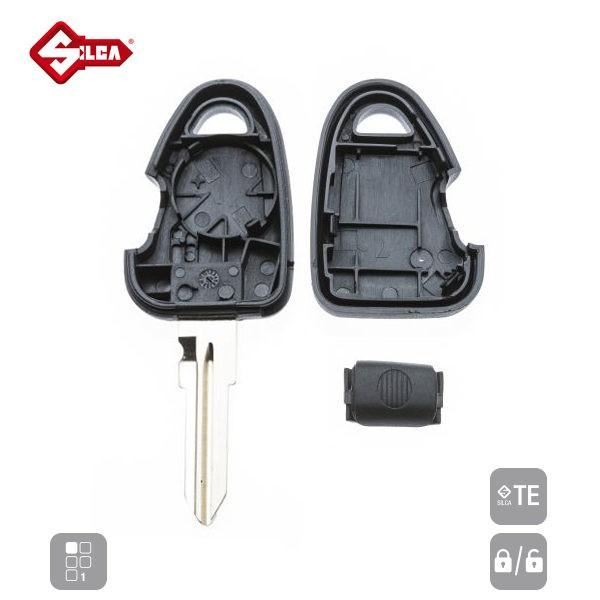 SILCA Empty Key Shells 1 Button GT10RS1_C
