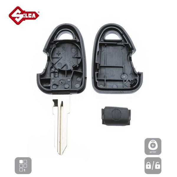 SILCA Empty Key Shells 1 Button GT15RRS1_C