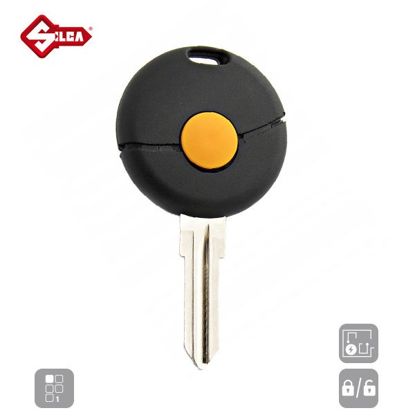 SILCA Empty Key Shells 1 Button YM23RS1_A