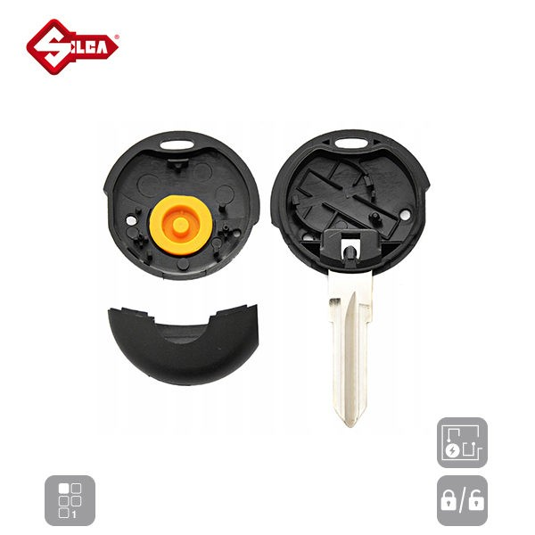 SILCA Empty Key Shells 1 Button YM23RS1_C