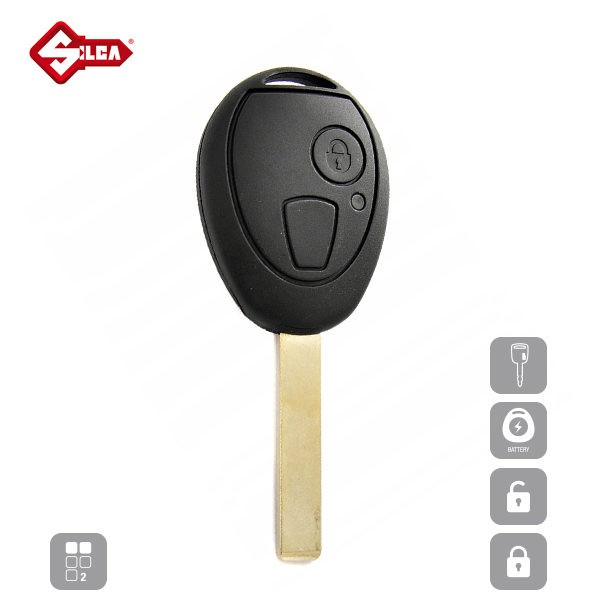 SILCA Empty Key Shells 2 Button HU200RS2_A