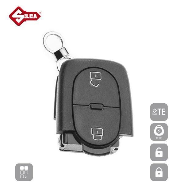 SILCA Empty Key Shells 2 Button HURSC2_A