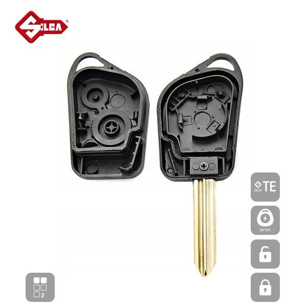 SILCA Empty Key Shells 2 Button SX9ARS2_C