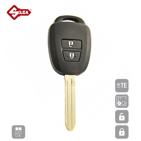 SILCA Empty Key Shells 2 Button TOY43CRS2N_A