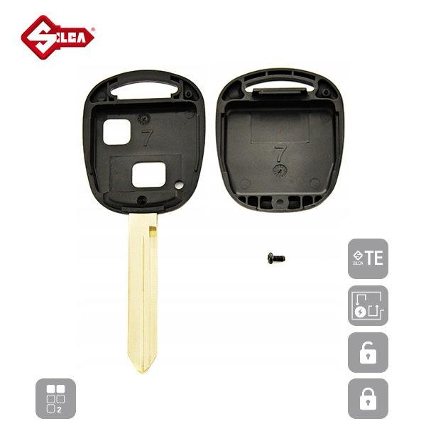 SILCA Empty Key Shells 2 Button TOY47BRS2_C