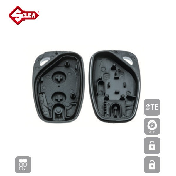 SILCA Empty Key Shells 2 Button VACRS2_D