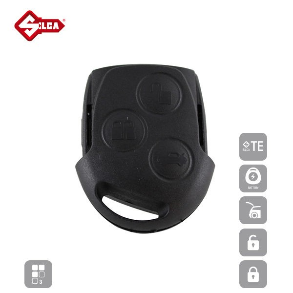 SILCA Empty Key Shells 3 Button FORS8_A