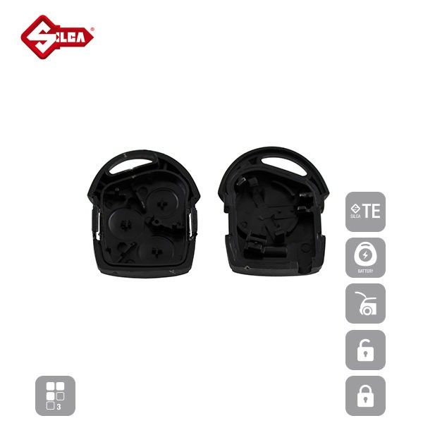 SILCA Empty Key Shells 3 Button FORS8_D