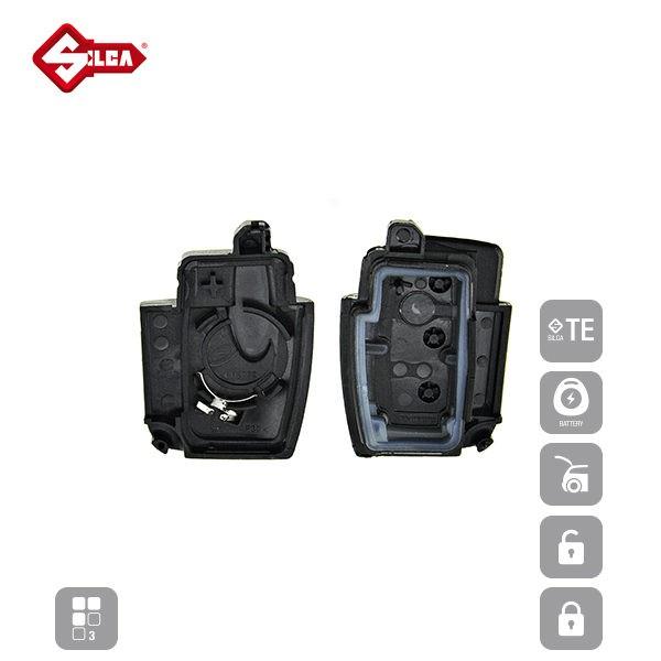 SILCA Empty Key Shells 3 Button FORSA8_C